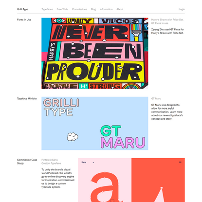 Welcome to Grilli Type – Independent Swiss Type Foundry