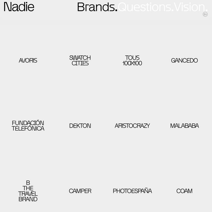 Brands Archive – Nadie
