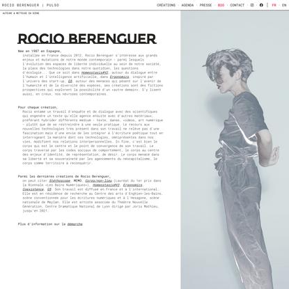 Bio | Rocio Berenguer | Pulso