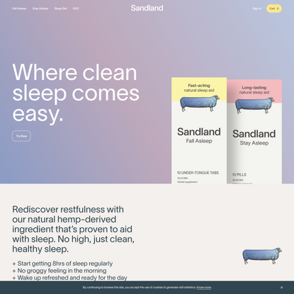 Sandland Sleep   Sleep Better Naturally