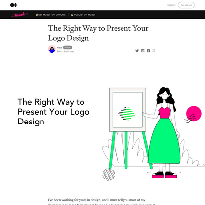 The Right Way to Present Your Logo Design