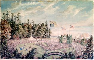 In 1869, Prince Arthur, Duke of Connaught and Strathearn visited Weston to attend the sod turning ceremony for the construction of the Toronto, Grey and Bruce Railway.