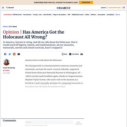 Has America got the Holocaust all wrong? - U.S. News - Haaretz.com