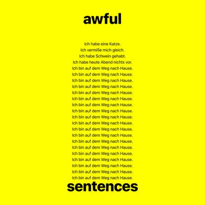 awful sentences