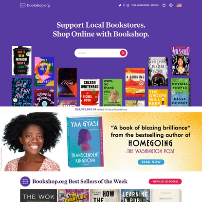 Bookshop: Buy books online. Support local bookstores.