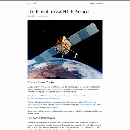 The Torrent Tracker HTTP Protocol