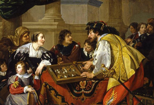 Theodore Rombouts, The Backgammon Players, 1634 AD.