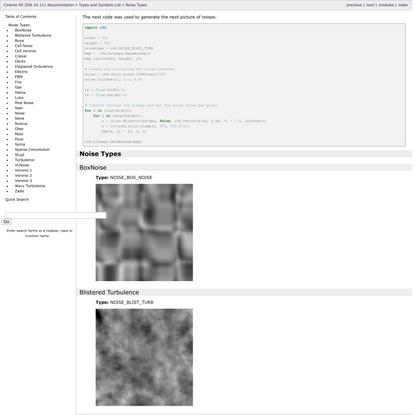 Noise Types — Cinema 4D SDK 24.111 documentation