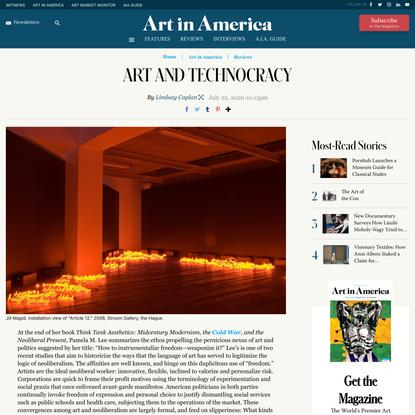 Art and Technocracy