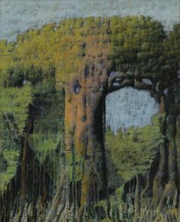 Armando Morales (Nicaraguan, 1927-2011), Tree VI, 1977. Oil on canvas, 102.9 × 81.6 cm
