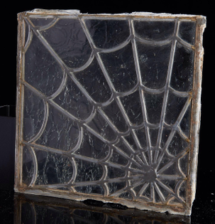 Antique leaded glass Spider Web window