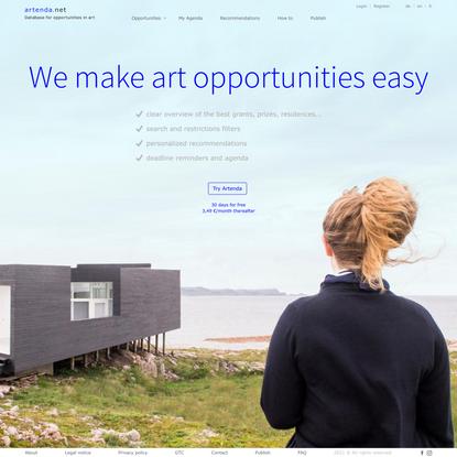 ARTENDA - We make art opportunities easy