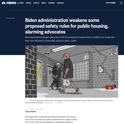 HUD walks back some proposed safety rules for public housing