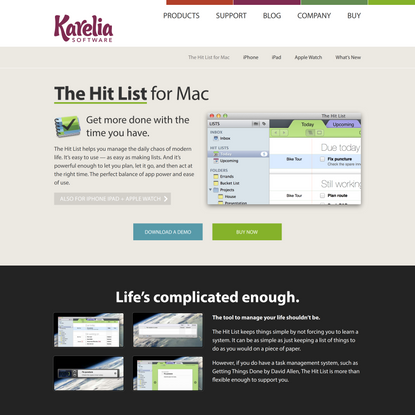 The Hit List for Mac: Handles life's little tasks & big projects