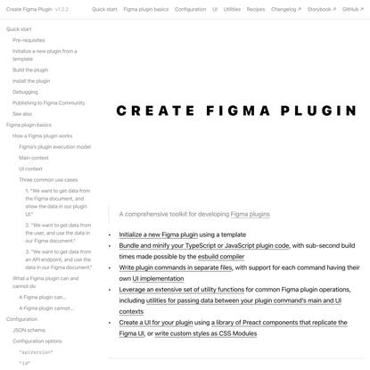 Create Figma Plugin