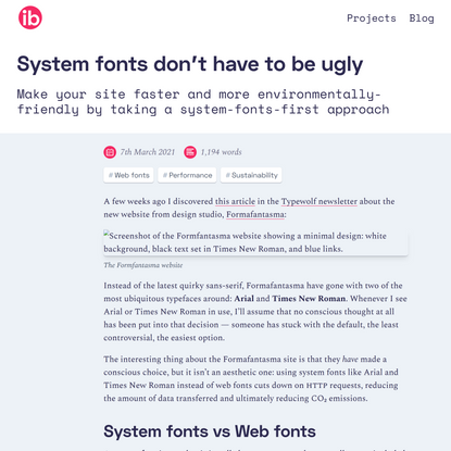 System fonts don't have to be ugly /// Iain Bean