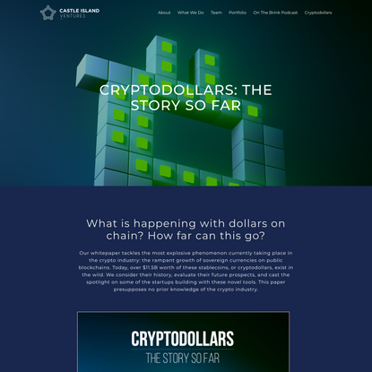 Cryptodollars - Castle Island Ventures