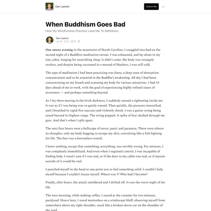 When Buddhism Goes Bad - by Dan Lawton - Dan Lawton