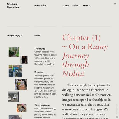 Nolita / May 5th — Automatic Storytelling