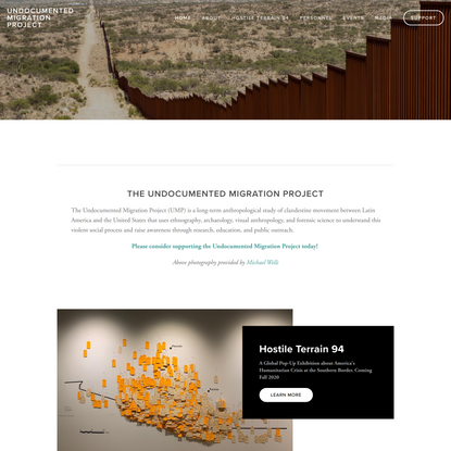 Undocumented Migration Project