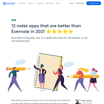 12 notes apps that are better than Evernote in 2021 ⭐⭐⭐⭐⭐