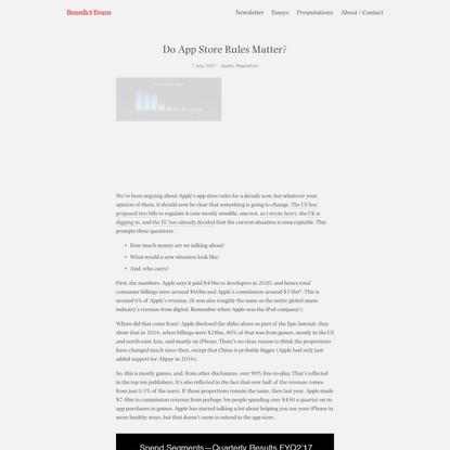 Do App Store Rules Matter? — Benedict Evans