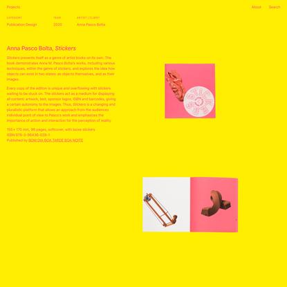 Anna Pasco Bolta, Stickers — Studio Manuel Raeder