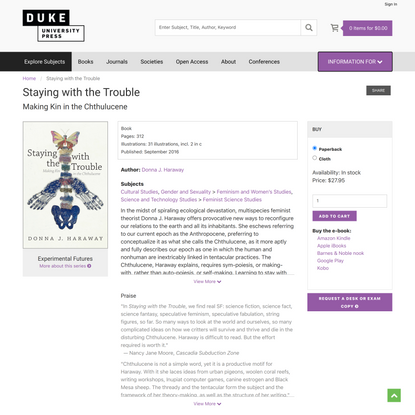 Duke University Press - Staying with the Trouble