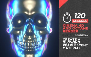 120 Seconds - Cinema 4D - Create A Glowing Pearlescent Material