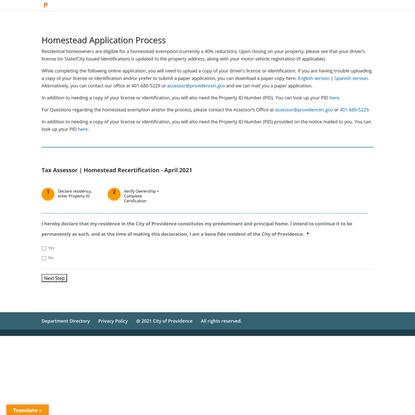 Homeowners Application Process | Providence, RI