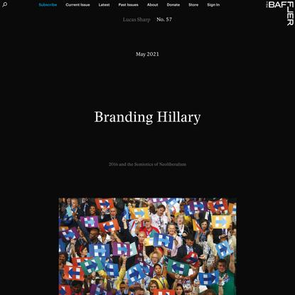 Branding Hillary | Lucas Sharp