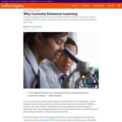 Why Curiosity Enhances Learning