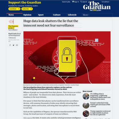 Huge data leak shatters lie that the innocent need not fear surveillance