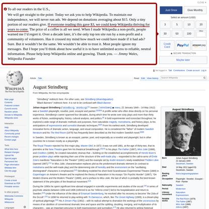 August Strindberg - Wikipedia