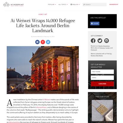 Ai Weiwei Wraps 14,000 Refugee Life Jackets Around Berlin Landmark