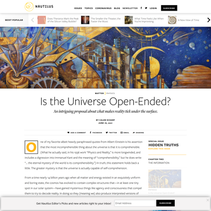 Is the Universe Open-Ended? - Issue 102: Hidden Truths - Nautilus
