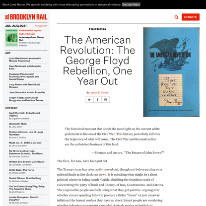 The American Revolution: The George Floyd Rebellion, One Year Out