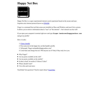 Happy Net Box by Ben Brown