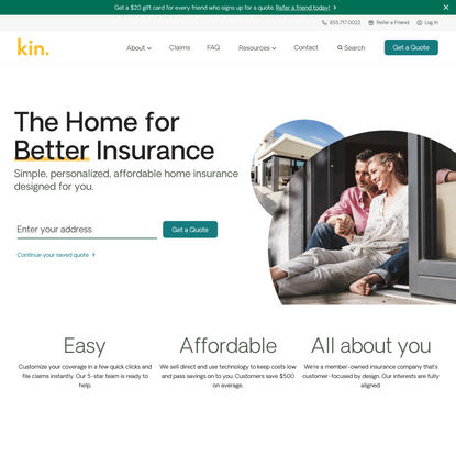 Homeowners Insurance Designed for You   Kin Insurance