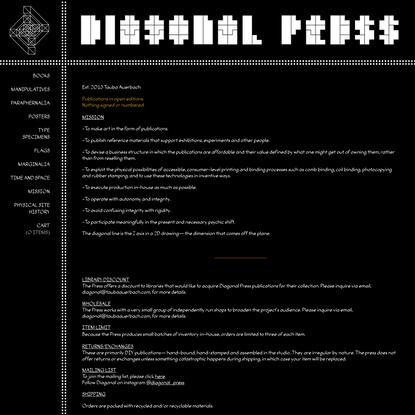 About   Diagonal Press