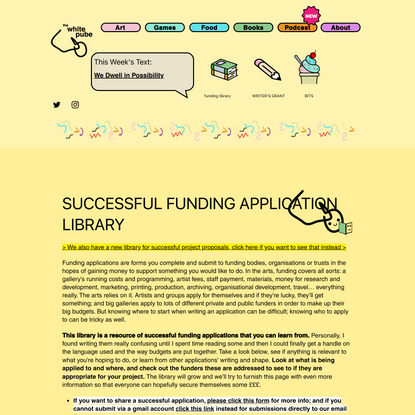 The White Pube | Funding Library