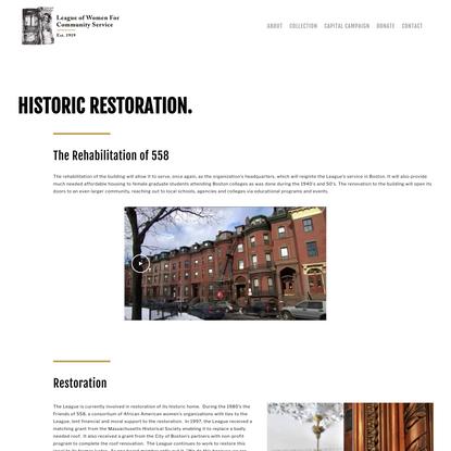 LWCS | Capital Campaign - Historic Restoration — LWCS