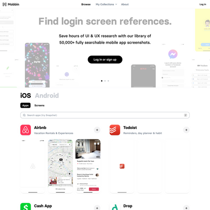 Mobbin - The world's largest mobile app design reference library