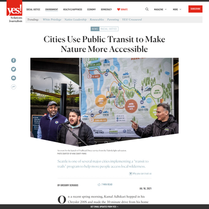 Cities Use Public Transit to Make Nature More Accessible