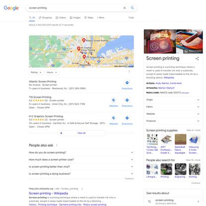 screen printing - Google Search