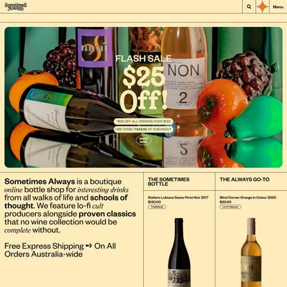 Sometimes Always - Boutique Online Wine Store