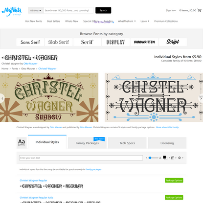 Christel Wagner Font | Webfont & Desktop | MyFonts