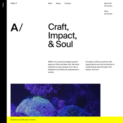AREA 17 — A brand and digital product agency