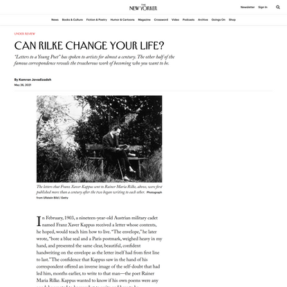 Can Rilke Change Your Life?