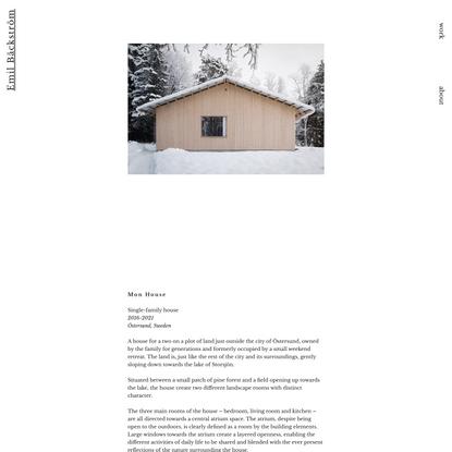 Mon House | Emil Bäckström